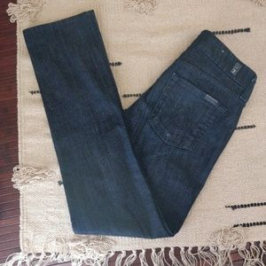 """7 For All Mankind Blue """"A Pocket"""" Lexie Jeans 25P"""